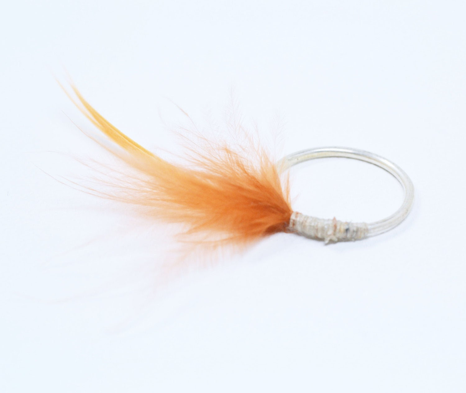 Silver Ring with natural Feather - korneliaShop