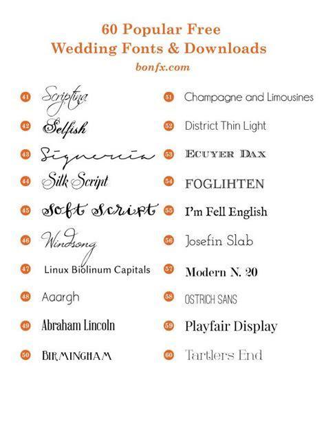 60 Popular Free Wedding Fonts   design inspi   Wedding
