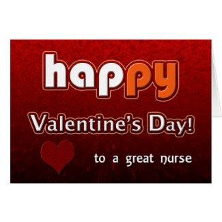 Happy Valentine's Day Nurse Card