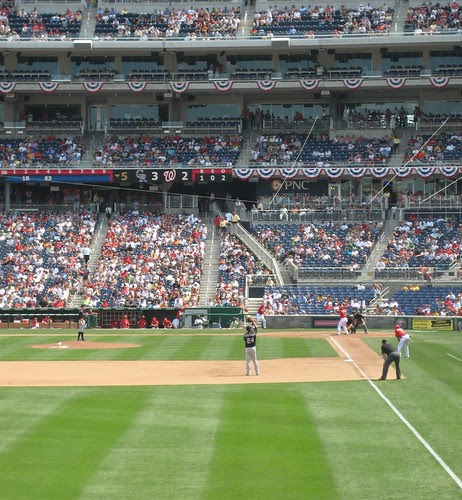 playing ball at Nationals Ballpark