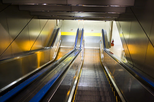 lonely escalators