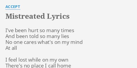 I Ve Been Hurt So Many Times Lyrics