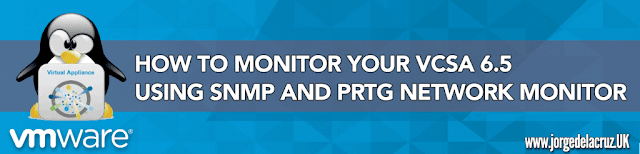VMware: How to monitor your VCSA 6.5 using SNMP and PRTG Network Monitor