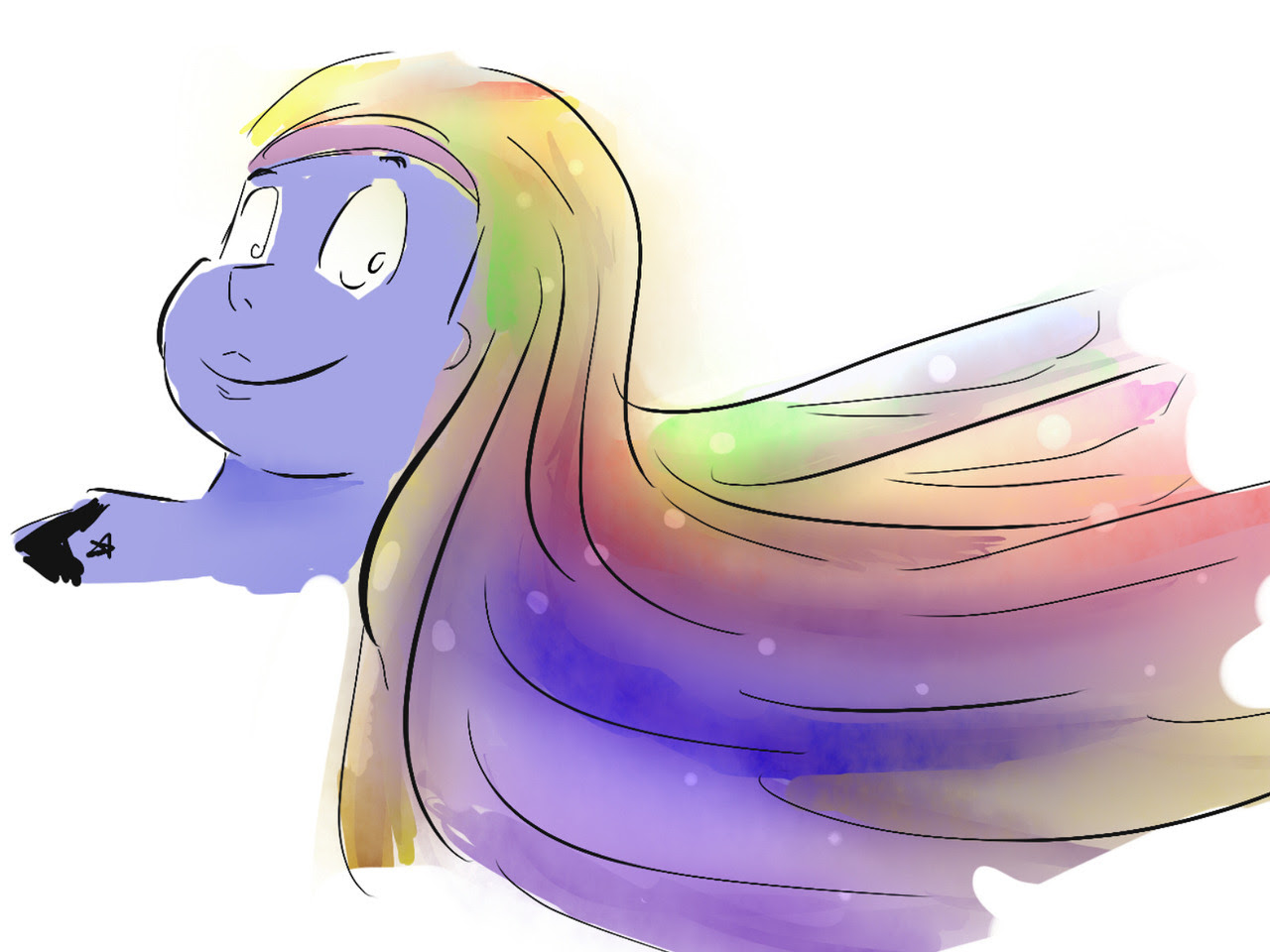 Bismuth from memory (I can't believe I've never drawn her!)