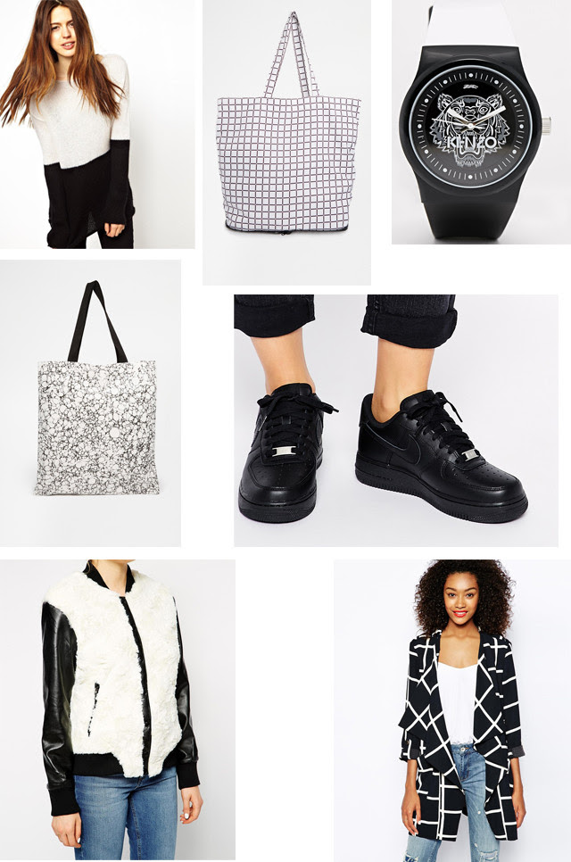 black / white comfy clothing sneakers inspiration minimalism fashion blogger belgian belgium belgie mode blogger zwart en wit outfit inspiration nike air force 1 color blocking grid prints fold bag shopping bag kenzo watch tiger