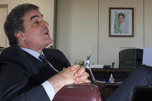 BRASILIA, DF, BRASIL, 04-11-2015, 20h00: O ministro da Justica, Jose Eduardo Cardozo, durante entrevista exclusiva em seu gabinete, no Ministerio da Justica. (Foto: Ed Ferreira/Folhapress, PODER) ***ESPECIAL*** ***EXCLUSIVO***