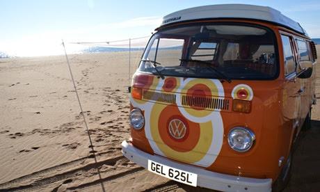 VW camping, Spain