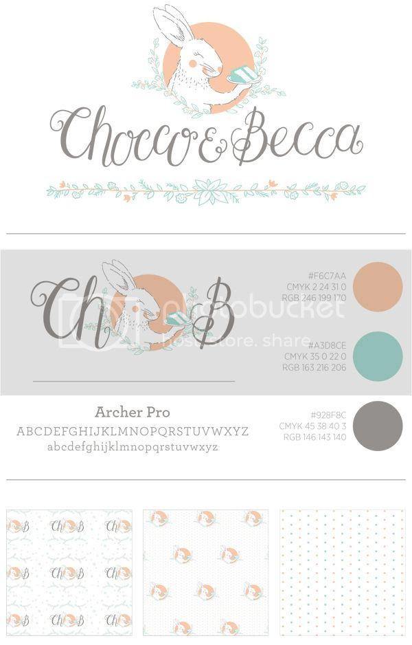 Chocco&Becca Logo Design and Branding by Happiness is...