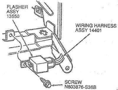 Ford Taurus (1985 - 1995) - fuse box diagram - CARKNOWLEDGE