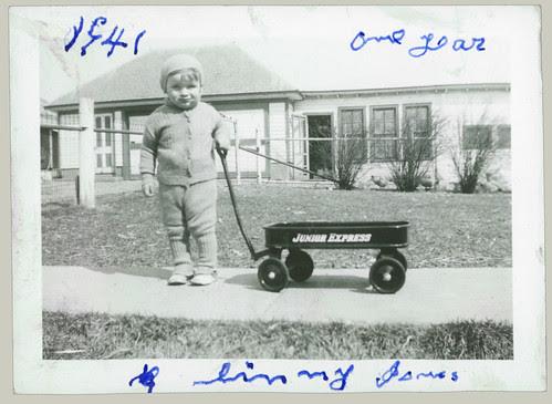 Girl and wagon