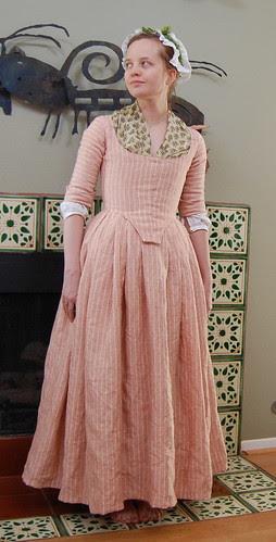 Striped Linen Round Gown