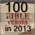 100 Bible Verses in 2013