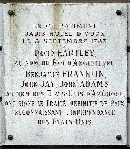 File:Plaque Traité de Paris, 56 rue Jacob, Paris 6.jpg