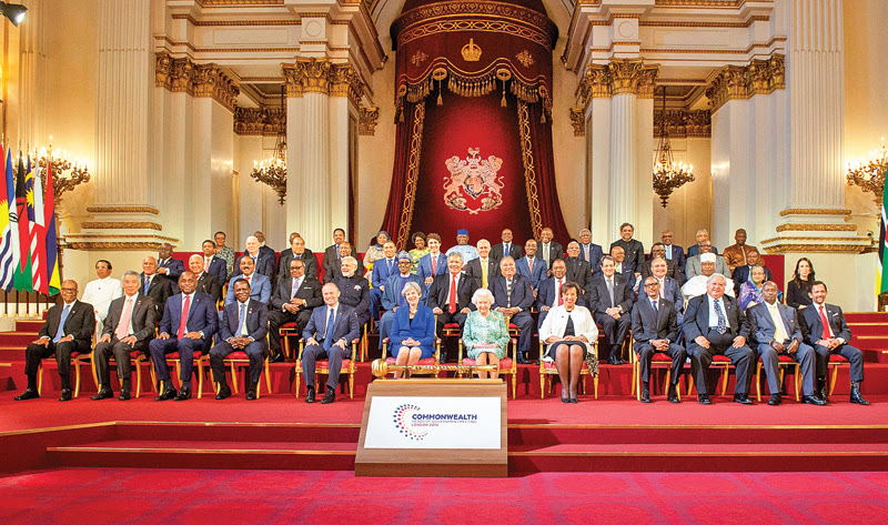 Commonwealth Heads of Government Meeting held at Buckingham Palace in London
