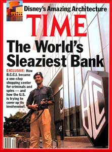 A Time magazine cover story on BCCI.