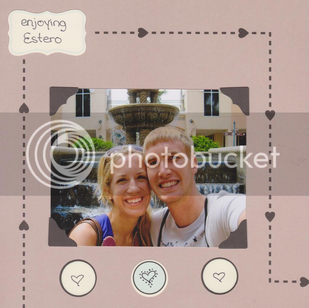 vacation scrapbook {Breezy Pink Daisies}