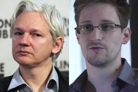 Julian Assange, fundador de Wikileaks, y Edward Snowden, el 'soplón' de la CIA.