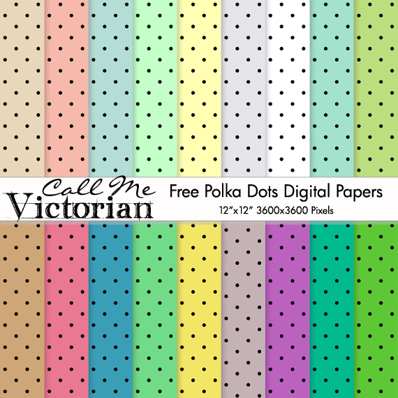 polka dots digital papers