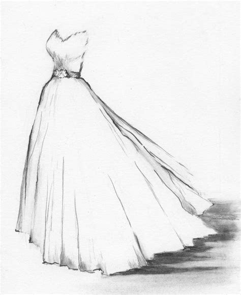 Wedding Dress Portrait Custom Drawing of Your by