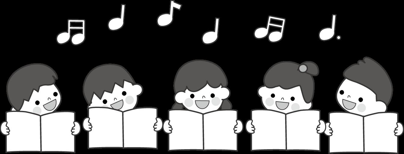 合唱歌う無料イラスト