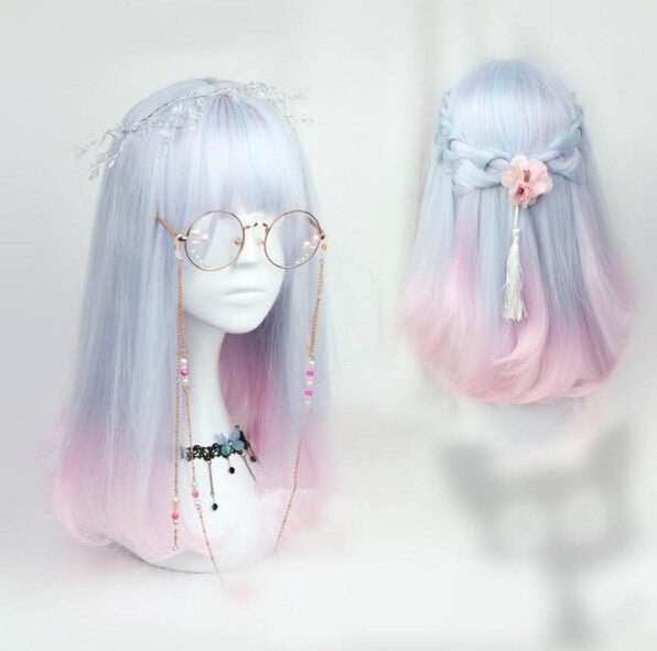 Japanese kawaii cosplay gradient lolita wigs