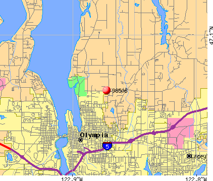 Olympia Zip Code Map | Global Map