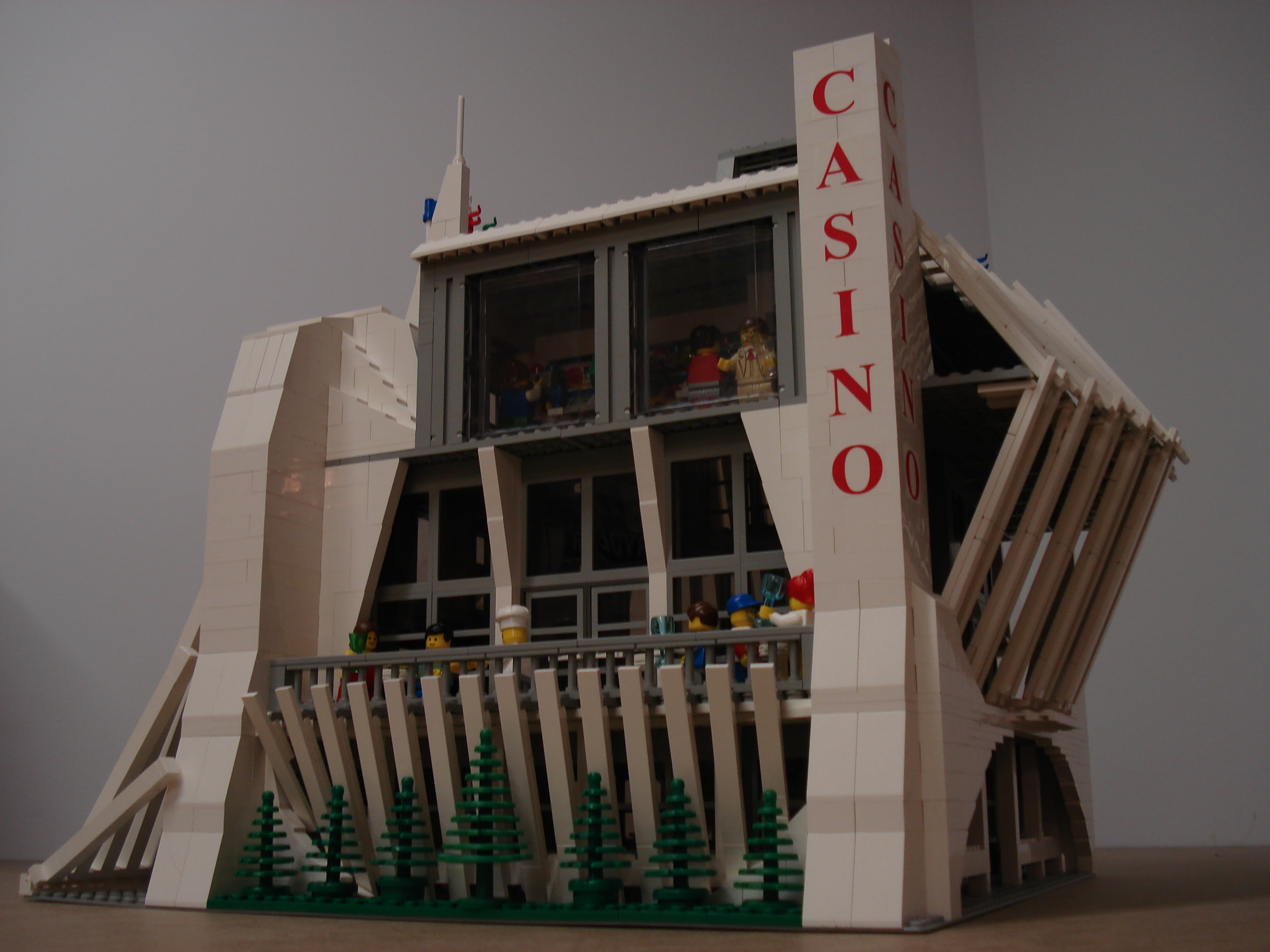 Casino with angled walls