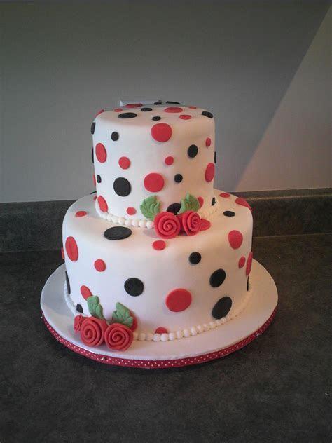 Polka Dot Cake   CakeCentral.com