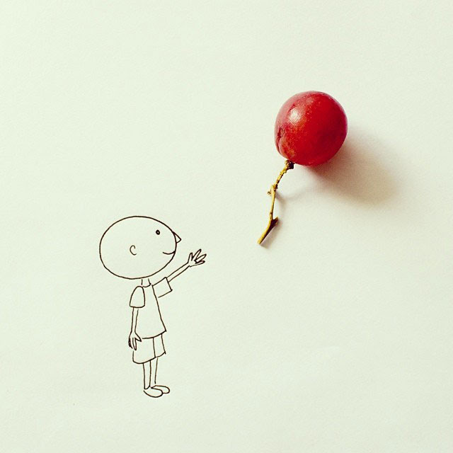 doodles that incorporate everday objects by javier perez cintascotch on instagram (7)