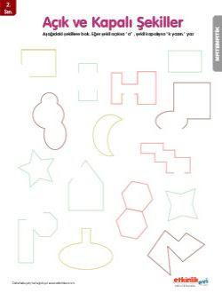 Yoksınıf Geometrik şekiller Etkinlikleri