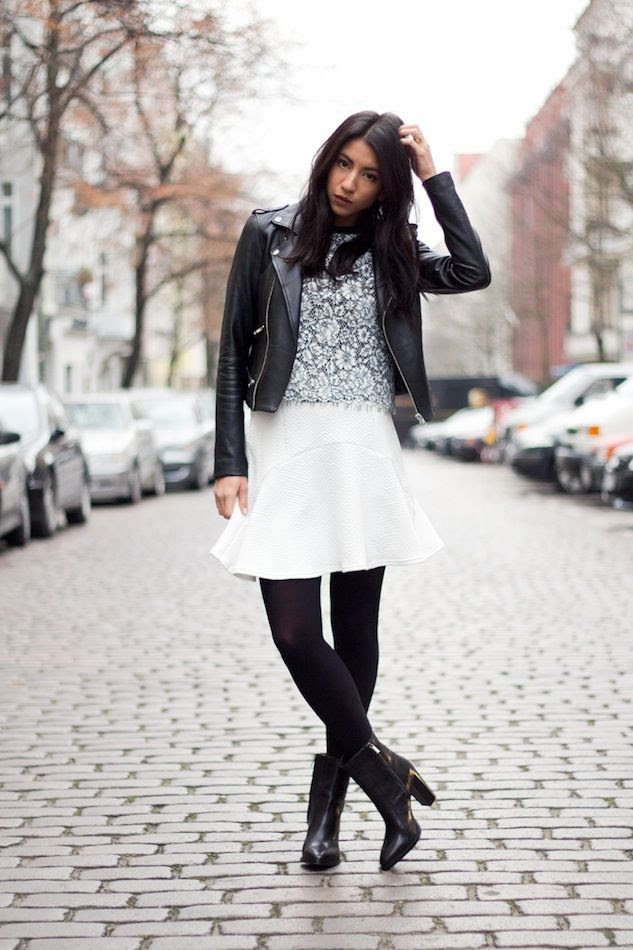 Le Fashion Blog How To Wear A Skirt In Winter Wavy Hair Moto Jacket Lace Top White Skirt Tights Ankle Booties-Not Your Standard Kayla photo Le-Fashion-Blog-How-To-Wear-A-Skirt-In-Winter-Wavy-Hair-Moto-Jacket-Lace-Top-White-Skirt-Tights-Ankle-Booties-Not-Your-Standard-Kayla.jpg