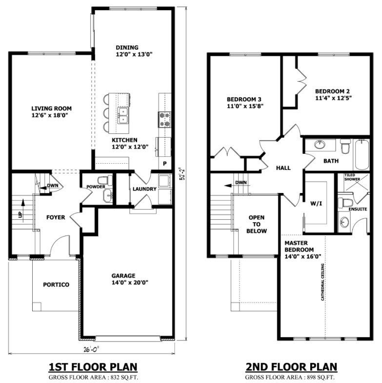 New Two Story House Plans With Master Bedroom On First ...