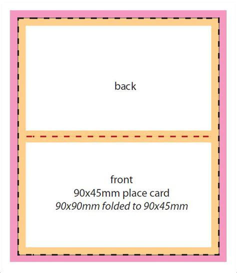 FREE 6  Place Card Templates in Word   PDF