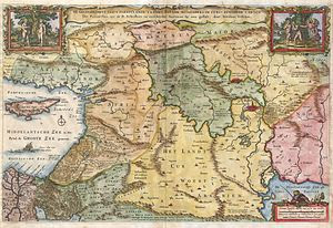 1657 Visscher Map of the Holy Land or the &quo...