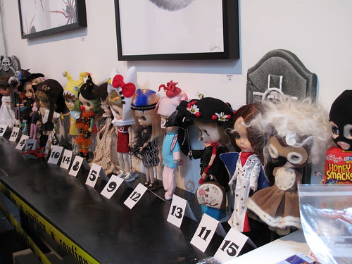 Costume contest entries.