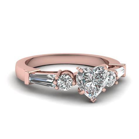Rose Gold Rings: Rose Gold Rings 3 Diamonds