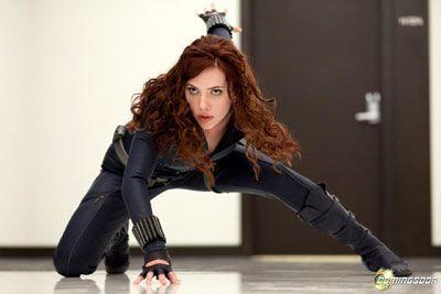 Scarlett Johansson as the Black Widow in IRON MAN 2.