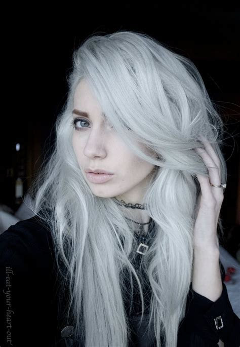17 Best ideas about Silver White Hair on Pinterest   White hair, White blonde and Ice blonde hair