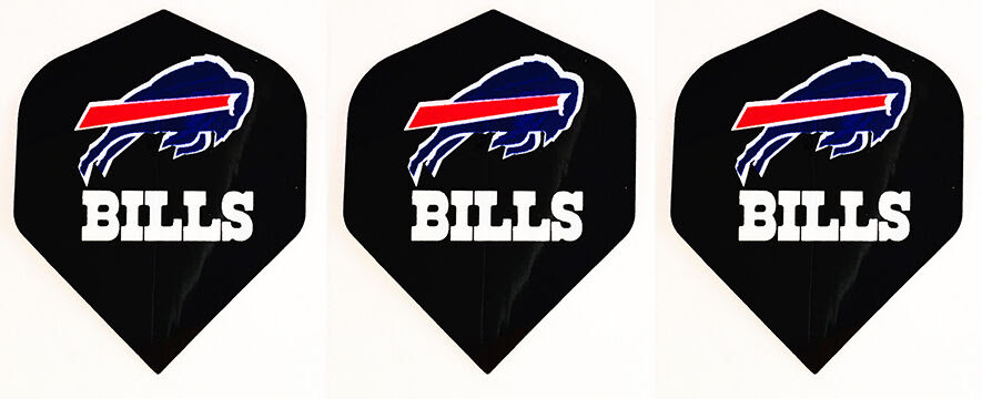 BUFFALO BILLS NFL Football Standard Wide Size Dart Flights 1 set of 3 Flights  eBay
