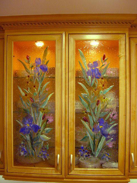 glass door designs for kitchen cabinets  | 660 x 990