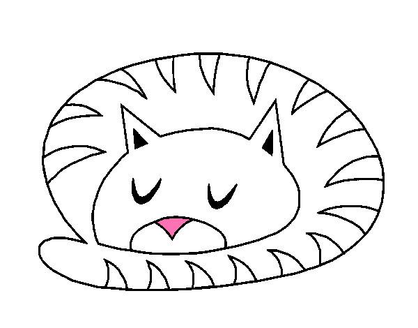 Dibujo De Gatito Pintado Por Kajk En Dibujosnet El Día 02 09 12 A
