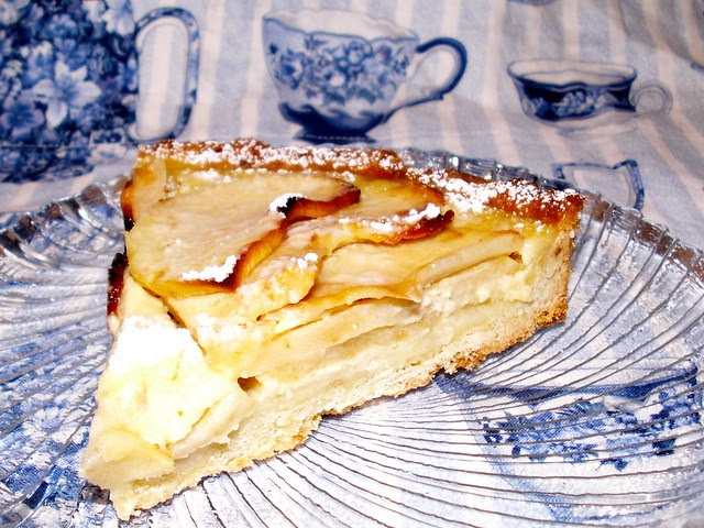 Slice of Alsatian Apple Tart