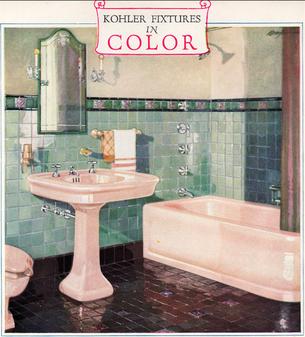 1920s Kohler Color Fixtures Bathroom Fixtures Blog Emma Nelson
