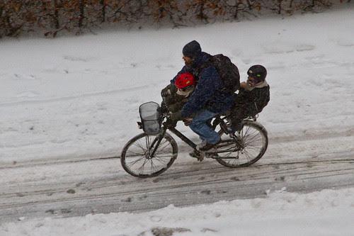 Aerial Winter Bicycle 02