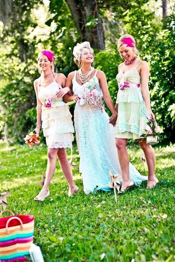 Eco- Fabulous CUSTOM MADE Tea Party Bridesmaid dress