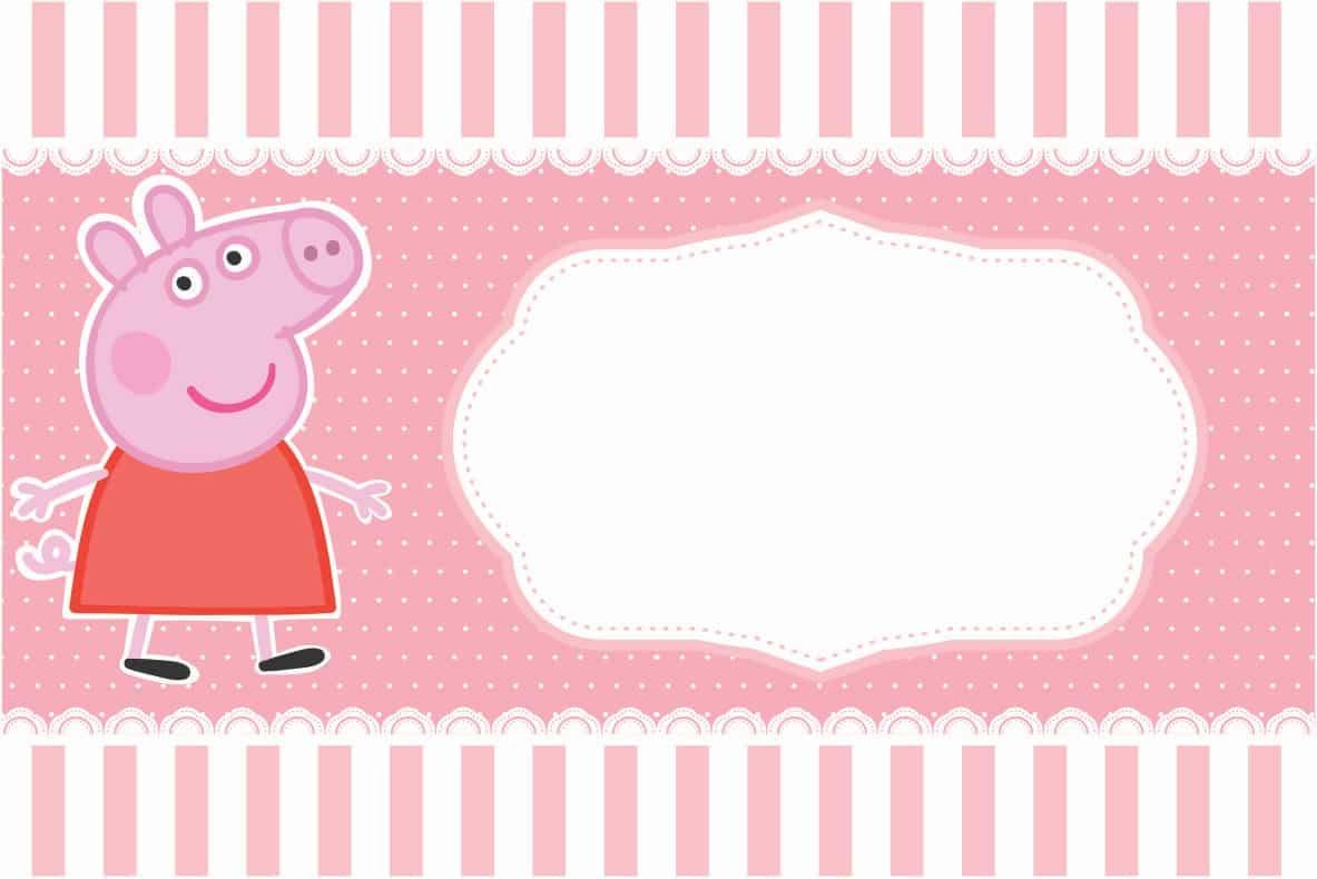 ... convite Peppa Pig para imprimir em casa