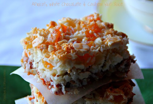 Apricot, White Chocolate & Cashew Nut Slice
