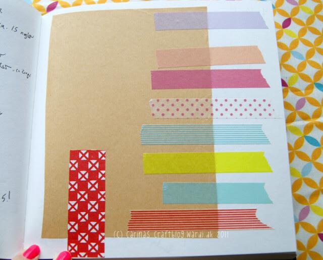 Brown paper + washi tape