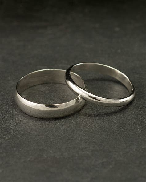 Wedding Band Set Wedding Rings Silver Wedding Rings