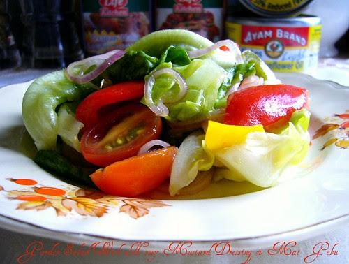 Garden Salad With Honey Mustard Dressing